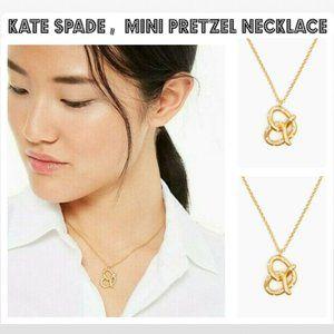 KATE SPADE Mini Pretzel Pendant Necklace Gold Tone